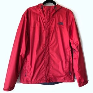 The North Face men's red windbreaker rain jacket